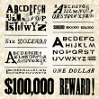 Vector Retro Poster Fonts — Foto Stock