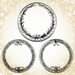 Stock Photo: Vector Oval Wreath Frames