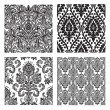 Vector Set of Damask Patterns — 图库照片