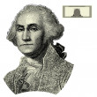 Vector George Washington Woodcut Illustration — Stock Photo