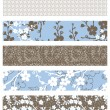 Stock Photo: Vector Set of Floral Patterns