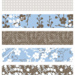 Vector Set of Floral Patterns — Stock Photo