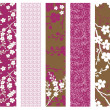 Stok fotoğraf: Vector Set of Floral Patterns
