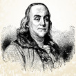 Vector Benjamin Franklin illustration — Stock Photo