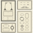Vector Frame and Ornament Set — Stock Photo