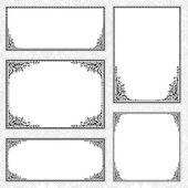 Vector Frame Set — Stock Photo