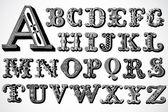 Vector Decorative Font Set — Stock Photo
