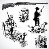Vector Vintage Hunting Rifles and Graphics — Stock Photo