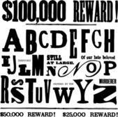 Vector resgate nota letras — Fotografia Stock