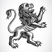 Vector Gothic Lion — Stock Photo