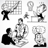 Vector Vintage Business Illustrations — Stock Photo