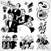 Vector Vintage Band and Orchestra — Stock Photo