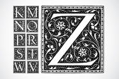 Vector Ornate Alphabet K-Z — Stock Photo