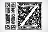 Vector Ornate Alphabet K-Z — Stock Photo