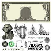 Vector Miscellaneous Monetary Ornaments — Stock Photo