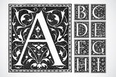Vector Ornate Alphabet A-I — Stock Photo