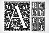 Vector Ornate Alphabet A-I — Stock Photo