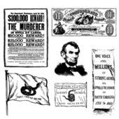 Vector Civil War Illustrations — Stock Photo