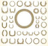 Vector Laural Wreaths — Stock Photo