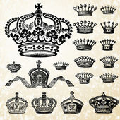 Vector Crown Set — Stockfoto