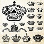 Vector Crown Set — Stock Photo