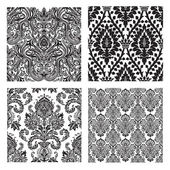 Vector Set of Damask Patterns — Stock Photo