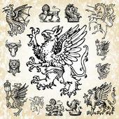 Vektor mytiska djur — Stockfoto