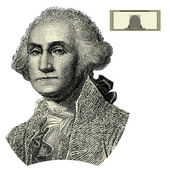 Vector George Washington Woodcut Illustration — Fotografia Stock