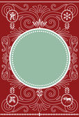Holiday Vector Frame and Pattern — Stock Photo