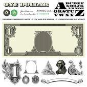 Vector Miscellaneous Money Ornaments — Stock Photo