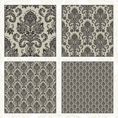 Vector Set of Matching Damask Patterns — Stock Photo