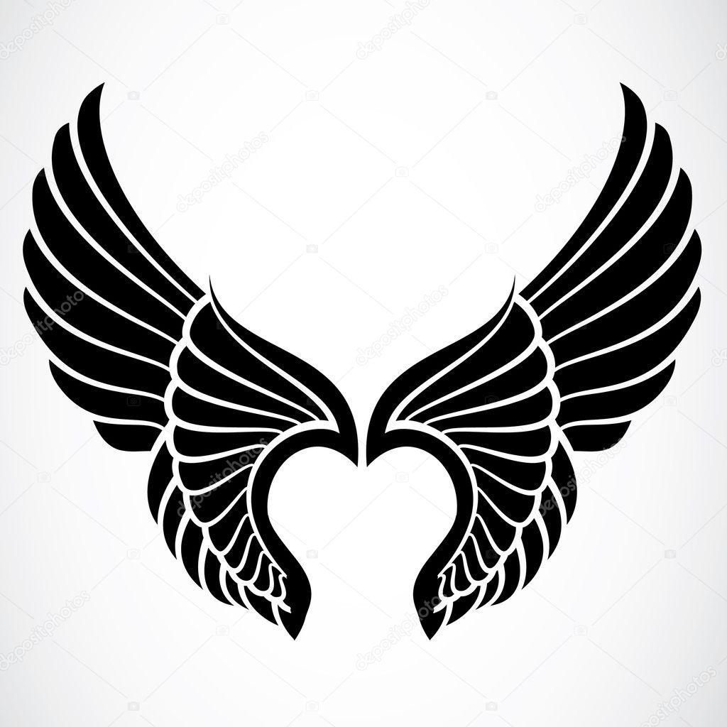 矢量翅膀 - 图库图片