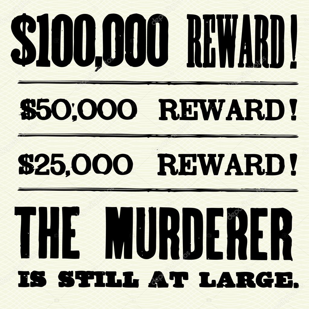 Reward Poster Type Photo createfirst 3526982 – Wanted Poster Letters