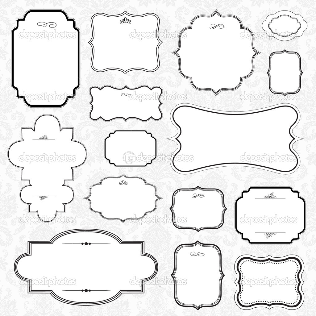 Set of highly detailed vector frames. Easy to edit. — Stock Photo #3527191
