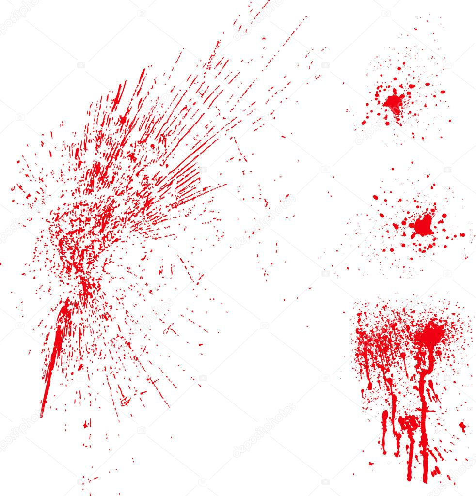 Set of vector splatter patterns. Great for blood or paint — Stock Photo #3527354