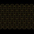 Vector Gold Circle Pattern — Stock Photo
