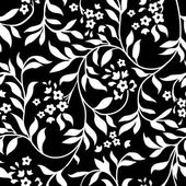 Vector Black Ivy Pattern — Stock Photo