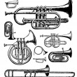 Vector Brass Instruments — Stock Photo #3611589