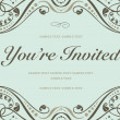 Vector Blue Invitation Background — Stock Photo #3617236