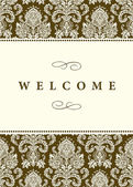 Vector Formal Damask Background — Stock Photo