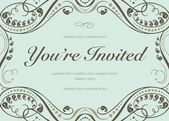 Vector Blue Invitation Background — Stock Photo
