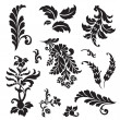Stock Photo: Vector Floral Ornament Set