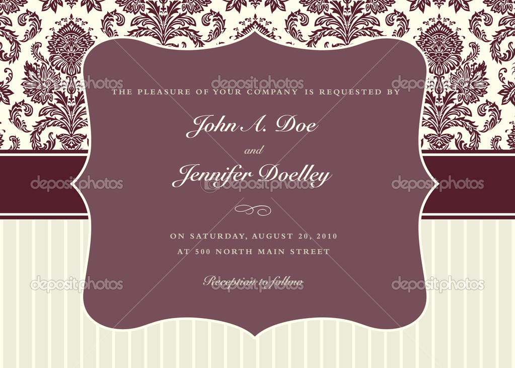 Vector ornate frame set and background pattern. Perfect for invitations and ornate backgrounds.  Pattern is included as seamless swatch.   Stock fotografie #3635893