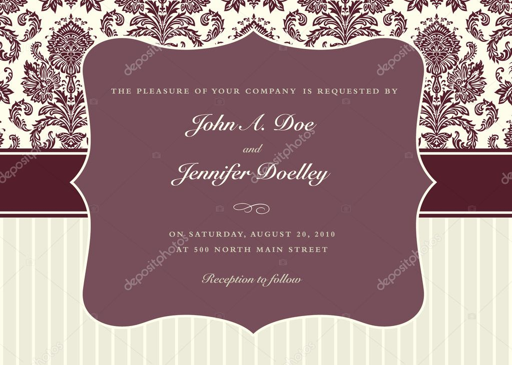 Vector ornate frame set and background pattern. Perfect for invitations and ornate backgrounds.  Pattern is included as seamless swatch.  — 图库照片 #3635893