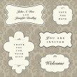 Vector Ornate Frame and Borders Set and Pattern — Stock Photo #3647158