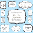 Stock fotografie: Vector Ornate Frame and Borders Set and Pattern