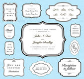 Vector Ornate Frame and Borders Set and Pattern — Stok fotoğraf