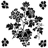 Vector Floral Berry Ornament — Stock Photo