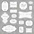 Vector Ornate Frame and Borders Set and Pattern — Stock Photo #3670335