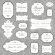 Vector Ornate Frame and Borders Set and Pattern — Stock Photo